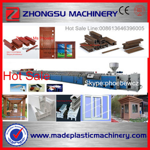 wood plastic pvc wpc door making machine with different mold designs