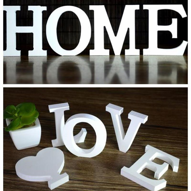 Wedding Decorations Wooden Letters White Wood Alphabet