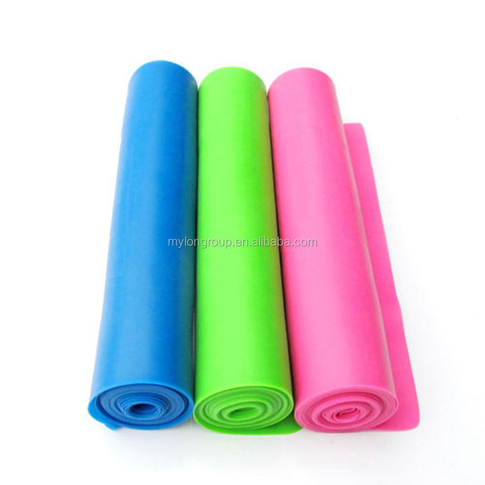 Colored Resistance Bands with logo printing/Heavy Duty Latex Loop Bands/Exercise Bands