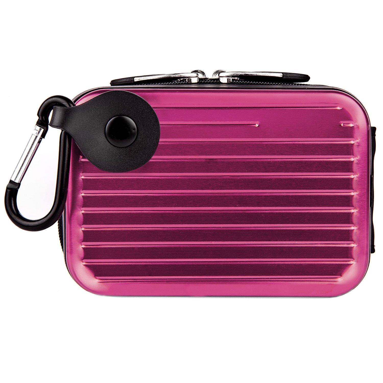 VanGoddy Pascal Metal Carrying Hard Case for Nikon Coolpix S2900 / S3700 / L32 / L31 / S6900 Digital Cameras (Purple)