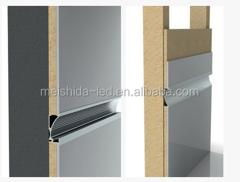 Wall Lamp Led Aluminum/alu Led Profile In Wall/led Tape Channel ...
