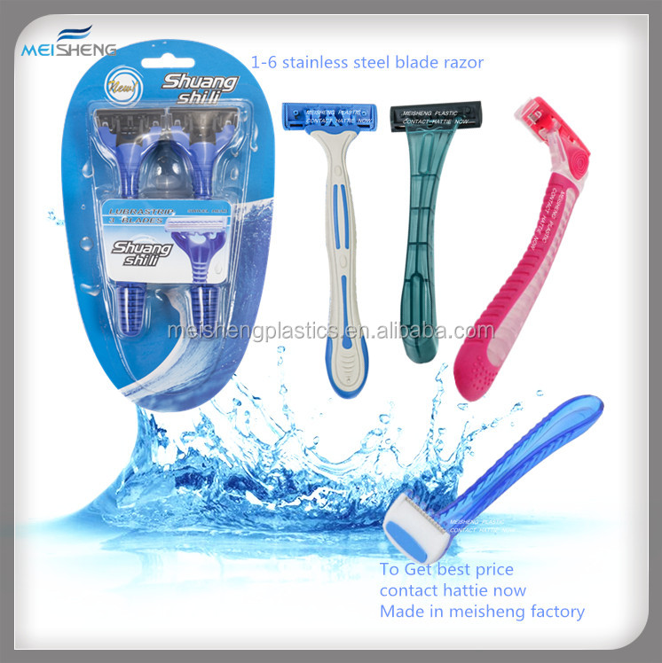 disposable razor with 1,2,3,4,5,6 stainless steel blade