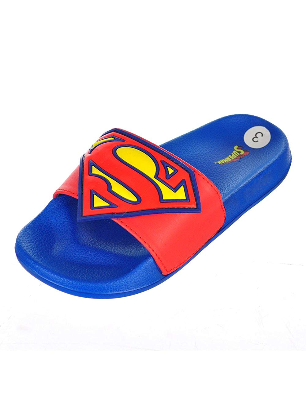 free shipping 72d15 0bd01 Get Quotations · Superman Boys Slide Sandals