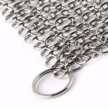 2017 hot sale Stainless steel Chainmail Scrubber cast iron cleaner metal scourer