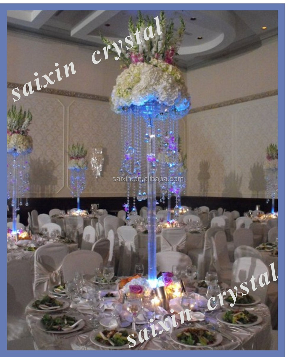 New! Elegant Crystal Flower Stand Wedding Crystal Table Centerpieces ZT 209
