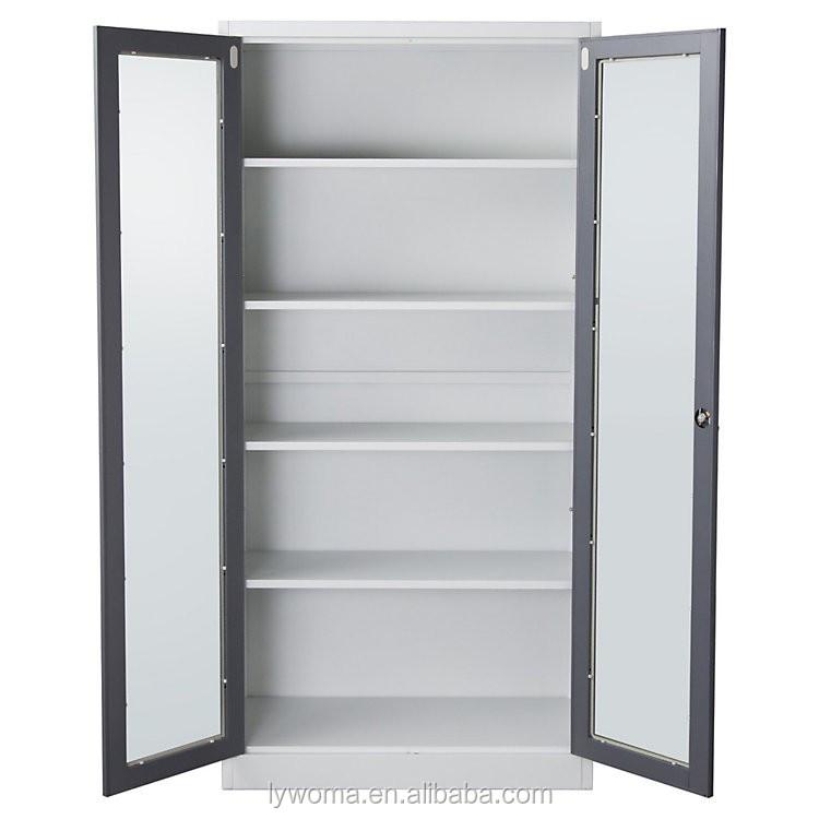 Cold Roll Steel Office Cupboard,Glass Door Key Cabinet Sheet Metal ...