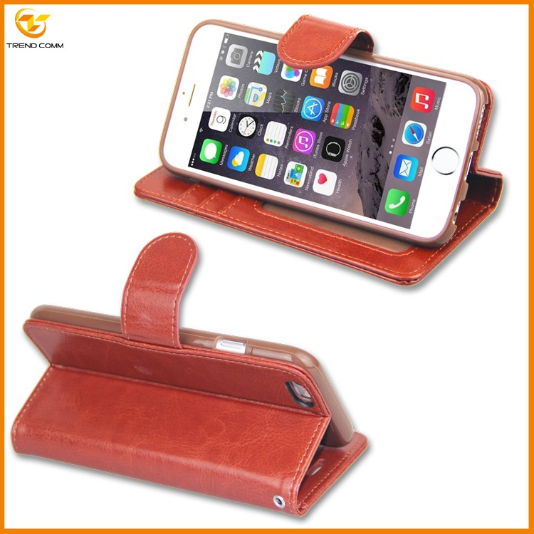 new products flip walle cover for iphone 7 leather case