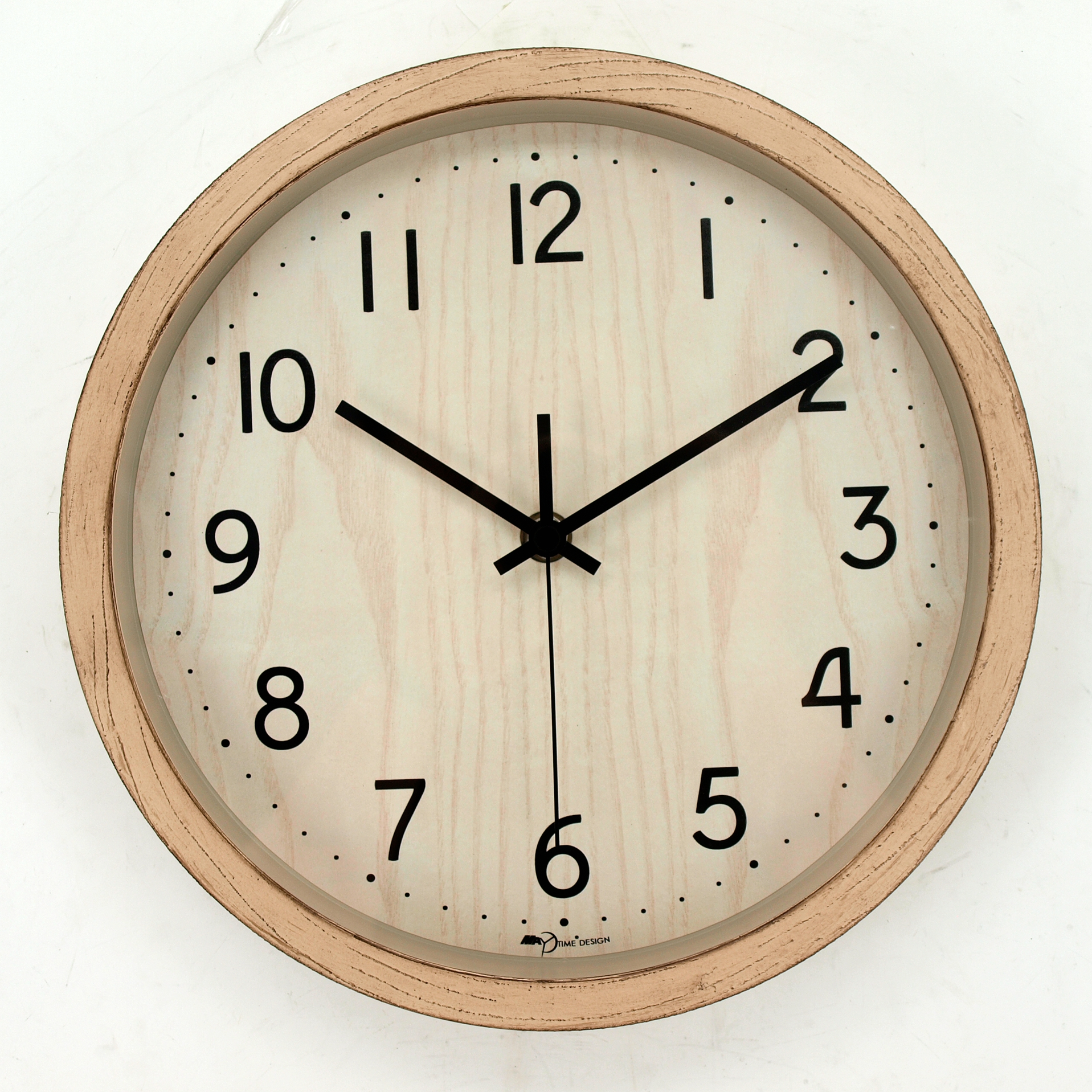 10 Inch Silent Wall Clock Wood Non Ticking Home Decor Vintage Wooden Clocks Distressed Goods Decorative