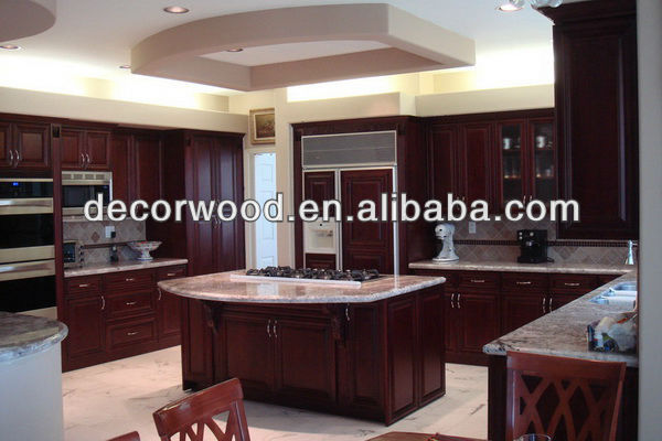 Dark Chocolate Glazed Maple Kitchen Cabinet With Kitchen Island View Maple Kitchen Cabinet Decorwood Product Details From Guangzhou Nuolande Import