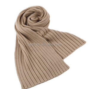 Solid Color Girls Fashion Winter Cream Cable Knit Scarf