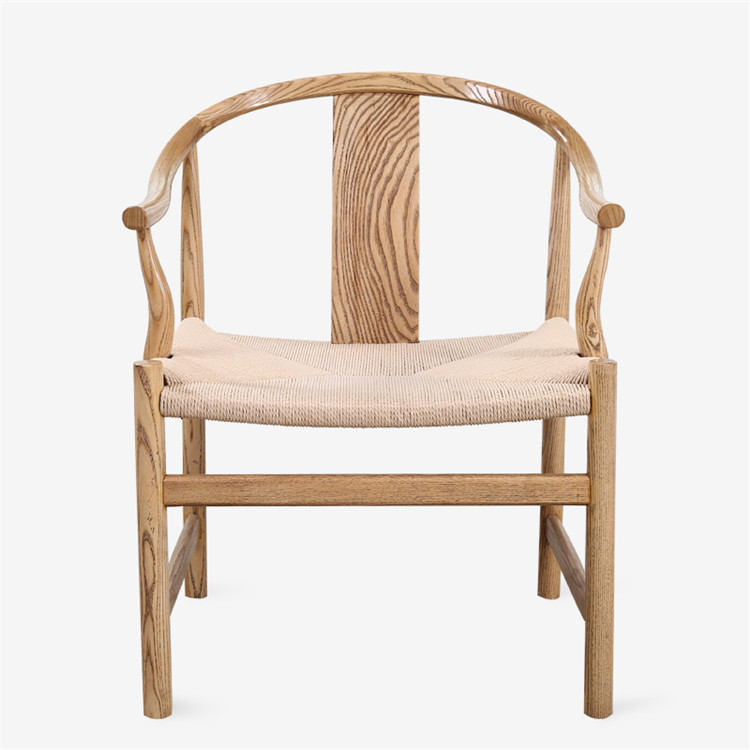 Chinese Style Wooden Chair With Rope Seat For Restaurant Dining Low Price Clearance
