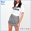Yihao 2017 women fashion Ruffle Front Gingham short Mini Skirts