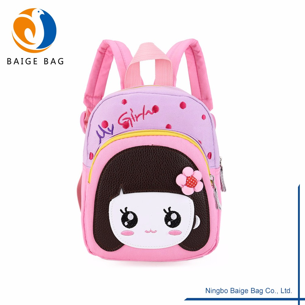 420D Polyester Childrens Backpack With Big Eye Girl