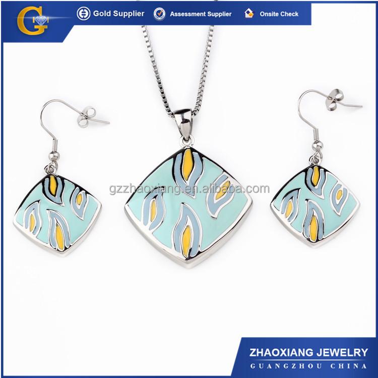 Erjs0167 Enamel Drawing Kundan Traditional Jewellery Set