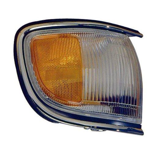 1996-1999 Nissan Pathfinder (Built Before 11/98 Production Date) Corner Park Light Turn Signal Marker with Chrome Trim Right Passenger Side (1996 96 1997 97 1998 98 1999 99)