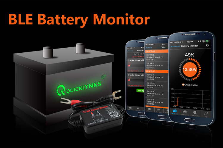 Original QUICKLYNKS BM2 12V Battery Tester / Bluetooth 4.0 Car Battery Monitor for battery health , cranking /charging test