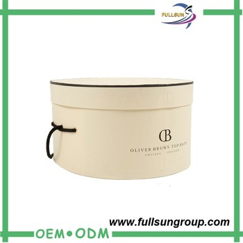 Captivating Benutzerdefinierte Große Dekorative Leder Runde Karton Billig Leder Hut Box