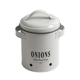 Metal Food Grade Round Kitchen Food Storage Canister for Onion