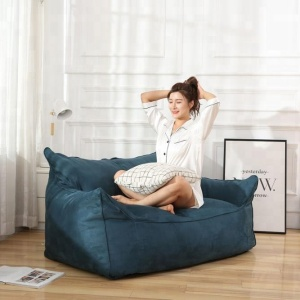 Visi block color bean bag armchair large beanbag long sofa lazy chair bag