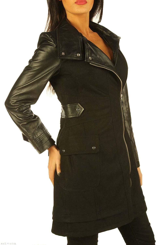 Stylish Ladies Leather Jacket Women Leather Coat KLW167