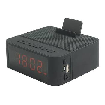 gadgets 2017 technologies LED display Alarm Clock Portable Blue tooth wireless Speaker