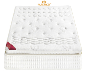 1 PC White cotton pad 200x200 Dream Collection memory foam president mattress at 20 cm height