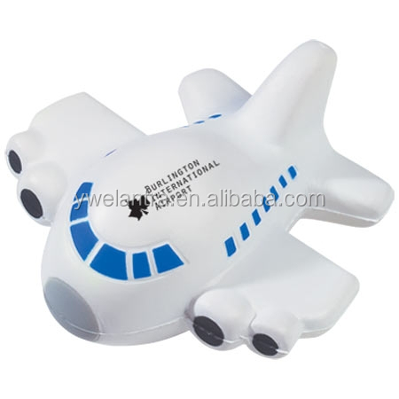 Plane stress ball ,antistress airplane