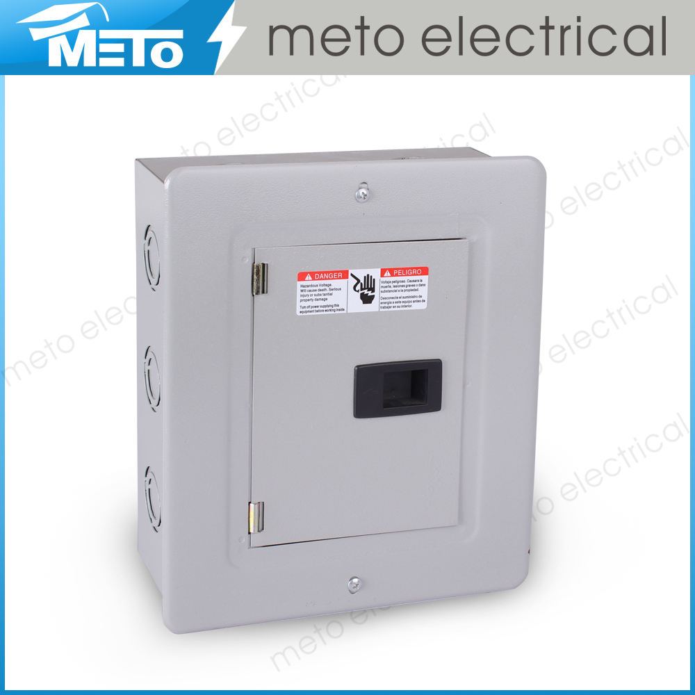 Meto 100amp 6 way outdoor residential electrical panel for Electrical panel sizes