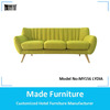 Danish design green living room velvet sofa MY 156