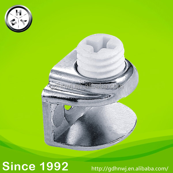 Factory price zinc alloy glass metal shelf clamp clips