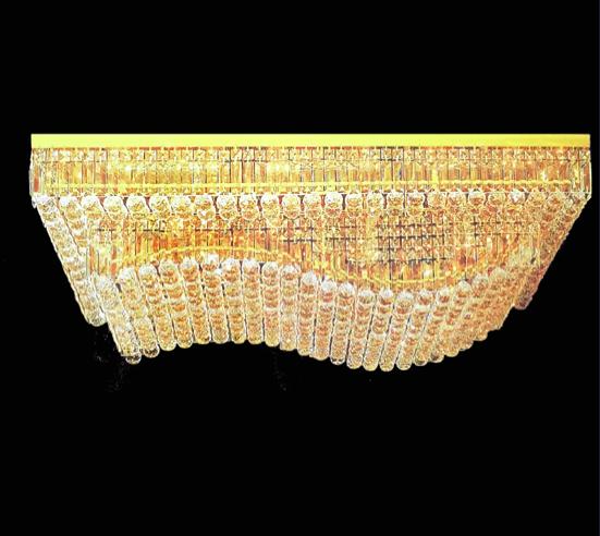 Mayor Al Buy Cuadrada Cuadrado Nivel Cristal Niveles Lámpara Lujo Techo lámpara Por 2 De lámpara K9 8n0PXOwk