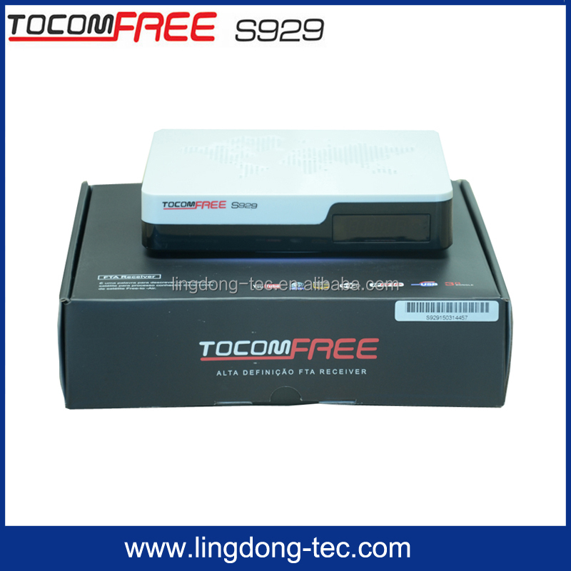 2016 tocomsat receiver satellite tocomfree s929 with iptv free iks and sks for South America