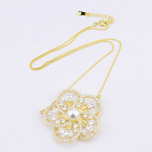 guangxi foxi flower shape rani haar designs pendant necklace in pearl cages