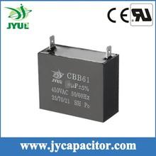 8UF 450V CBB61 AC SH motor run film capacitor 1+1 Pin for fan