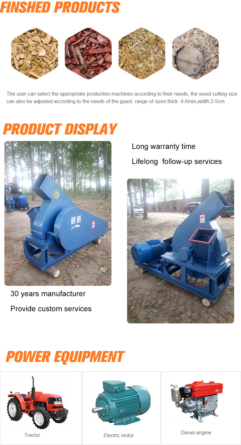 Weiwei drum wood chipper for making chips