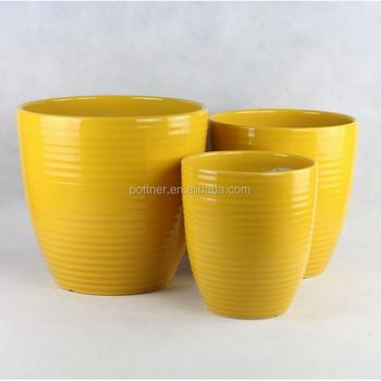 Yellow ceramic big flower pot 332y buy big flower potceramic big yellow ceramic big flower pot 332y mightylinksfo