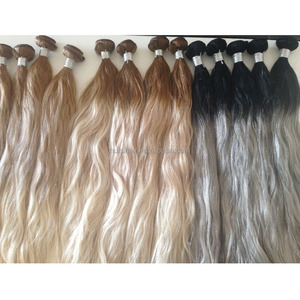 Alibba express 7a Balayage ombre peruvian virgin human double drawn hair blonde brazilian 3 mixed hair color double drawn