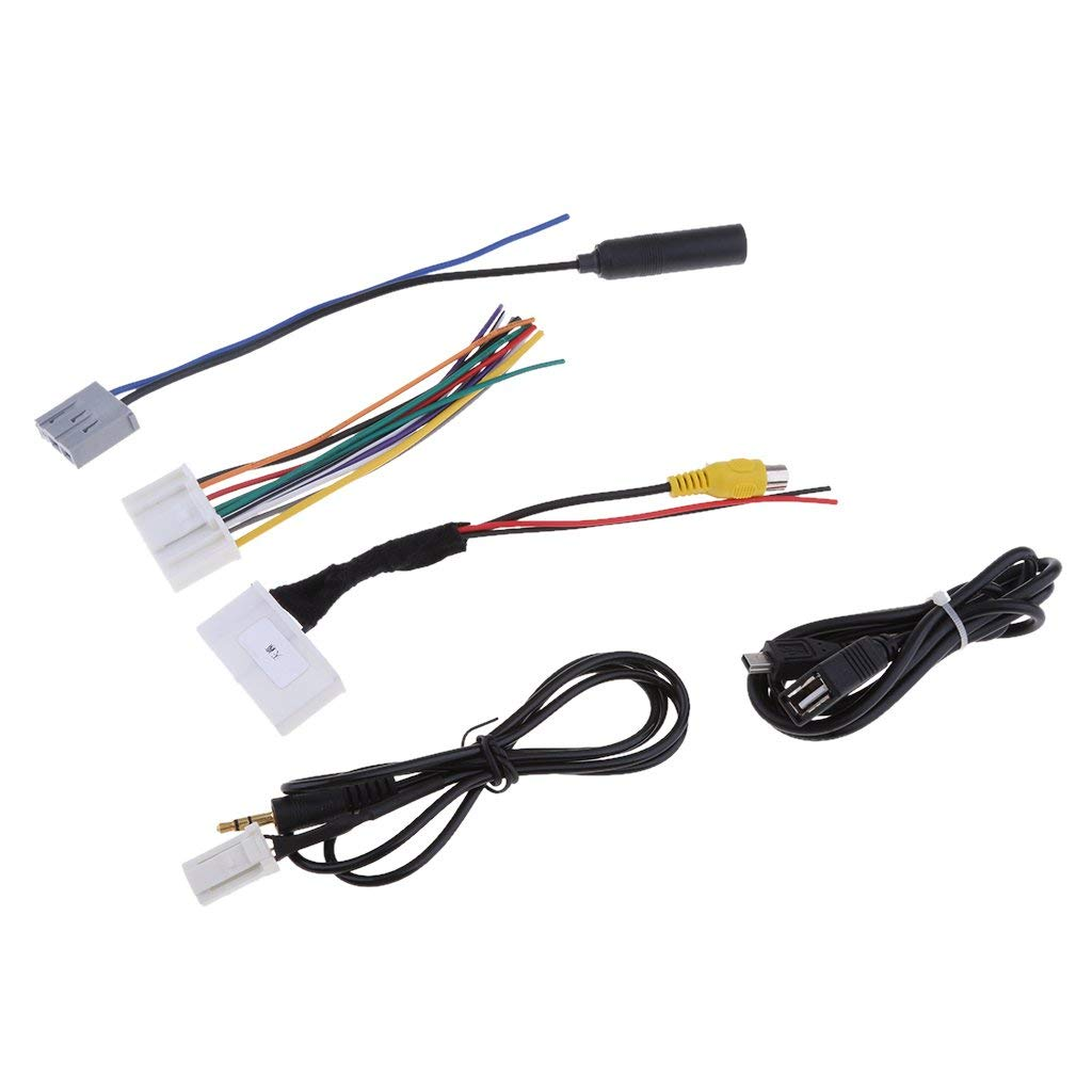 Get Quotations · MagiDeal Car Audio 5 Cables Kit Stereo Wiring Harness Wire  Accessories for Teana Qashqai Easy Installation