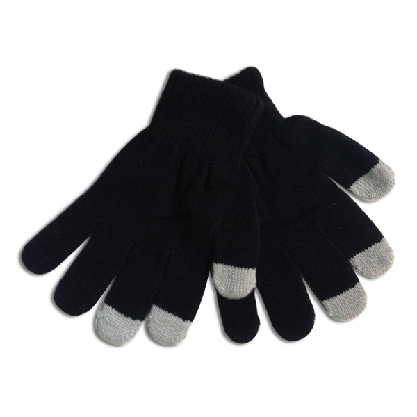 Customeizable Wholesale Cheap Acrylic Yarn Colorful Children Touch Gloves