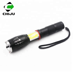 Wholesale 800m long range zoomable rechargeable LED flashlight with magnet