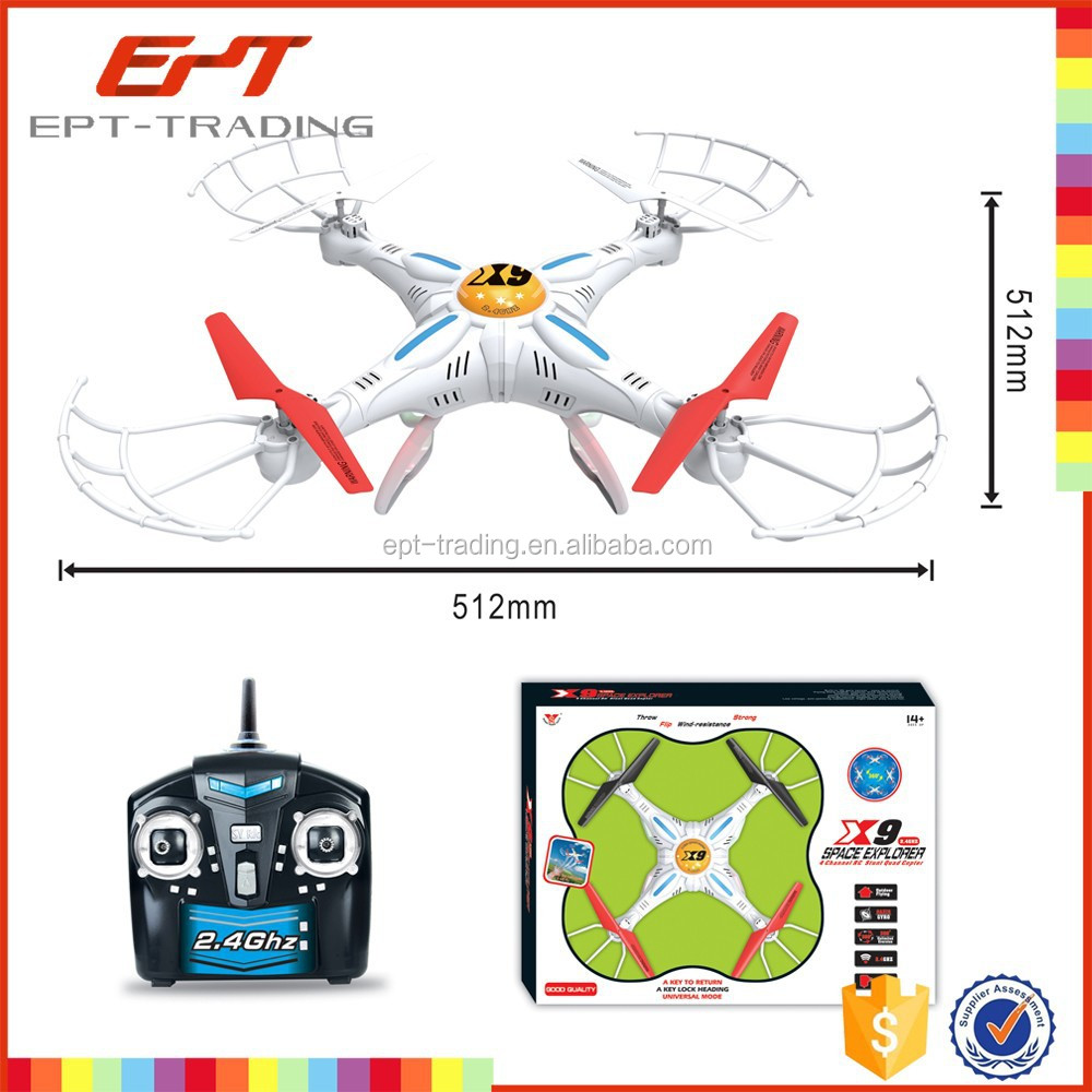 Hot sale 2.4g 4CH outdoor quadcopter rc quadcopter intruder ufo kit for sale