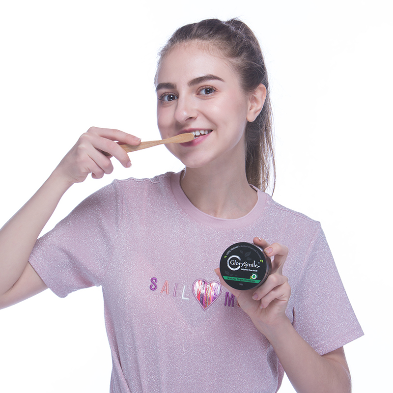 Glory Smile CE Certified 30g Natural Coconut Activated Charcoal Teeth Whitening Powder OEM