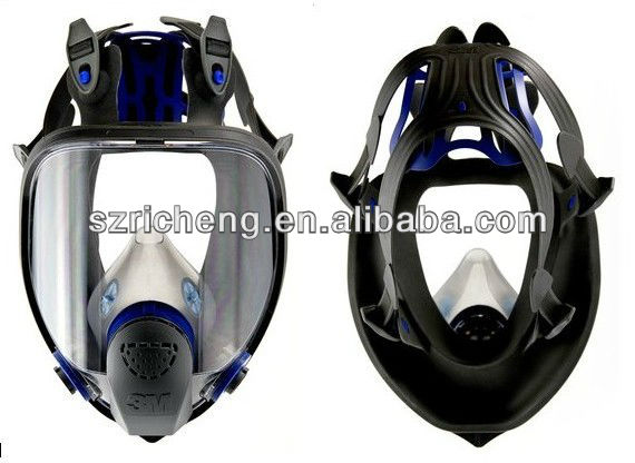 3M Ultimate FX Full Facepiece Reusable Respirator Silicone Full Face Mask FF-402, Respiratory Protection