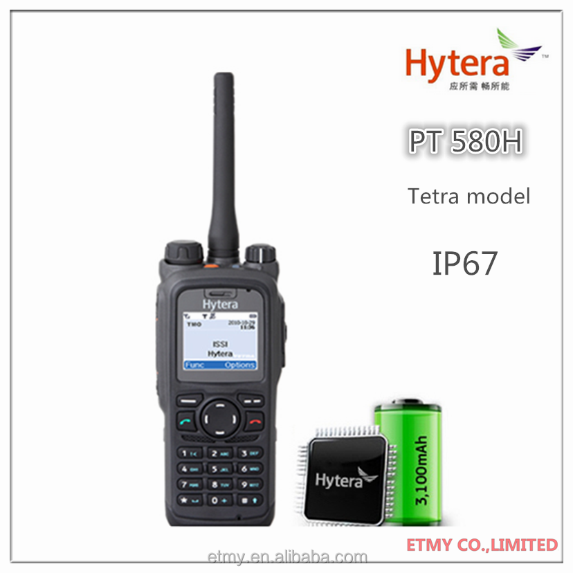 Hytera Tetra Vhf/uhf Ham Radio Walkie Talkie Hyt Pt-580h Rugged ...