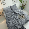 washed cotton microfiber duvet cover set bedding home textile
