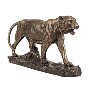 Garden Decoration life size Casting Bronze or Brass Tiger Statue