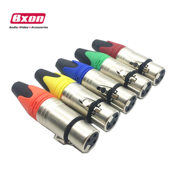 XLR Female 3 Pin Audio Cable Connector