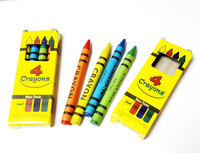 4 pack of crayons in box