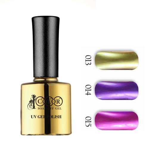 6pcs Color 1000 2014 New Hot Sale Free Shipping Professional UV LED Metallic gel nail polish