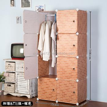 Cartoon Door Kids Storage Cabinet Clothing Wardrobe Cubes